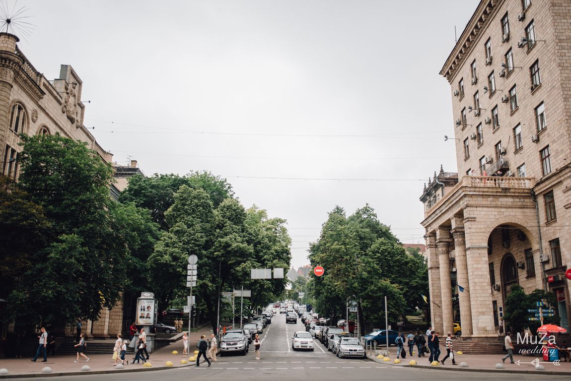 Киев, утро свадьбы, сборы жениха