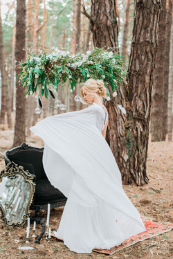 свадебное платье ассиметрия MargaM