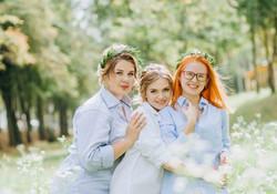утро невесты с подругами, фотосессия
