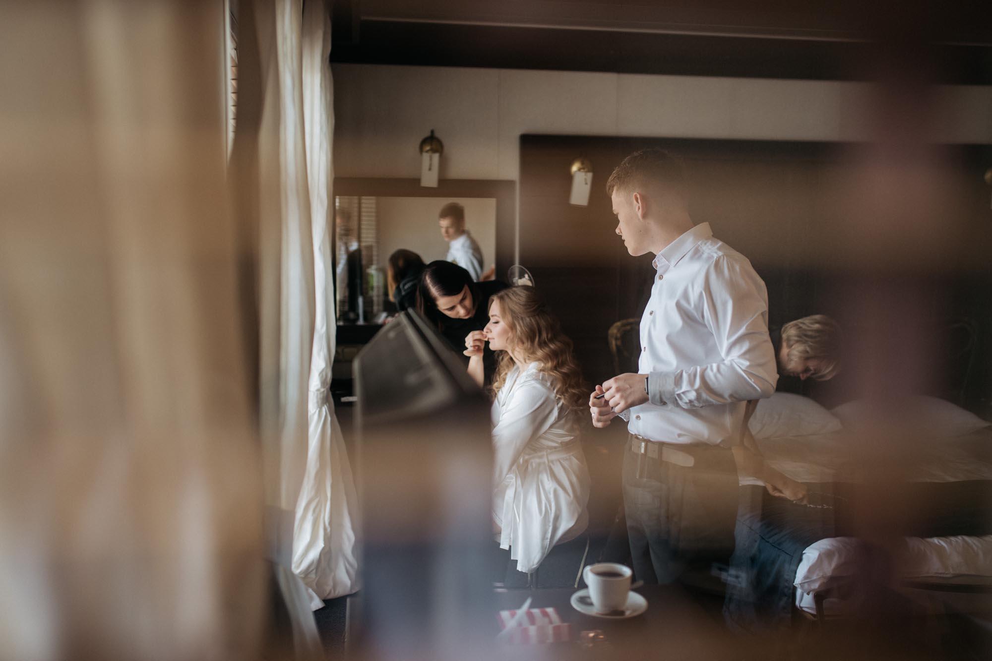 свадебное утро, сборы невесты