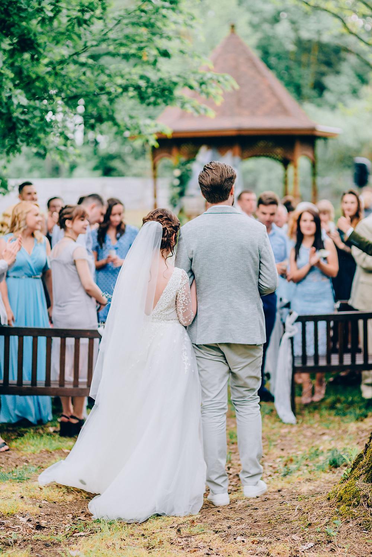 Дресс-код на свадьбе, wedding dress code - гости поддержали серо-голубую цветовую гамму свадьбы