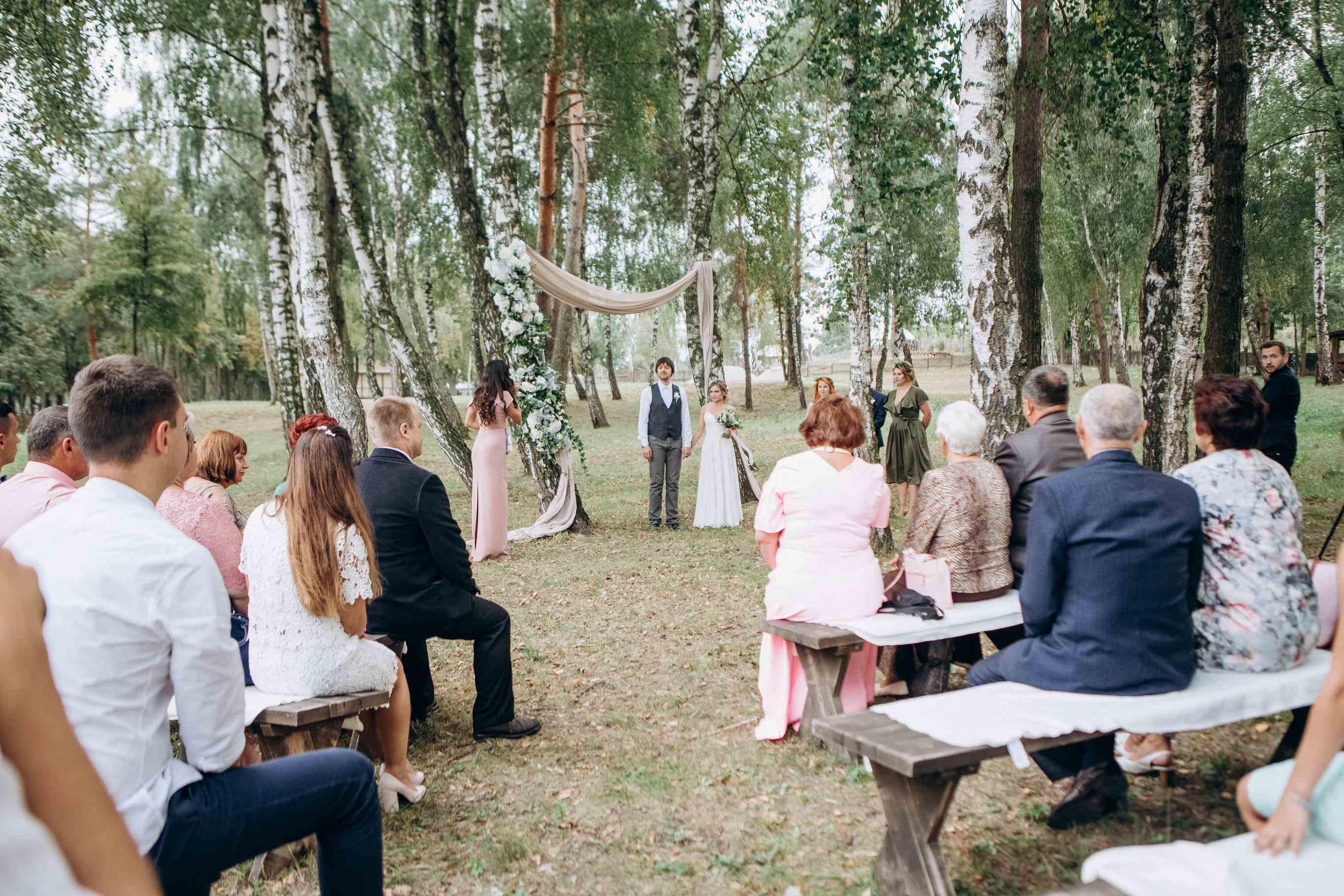 Свадебная церемония в лесу, Киев