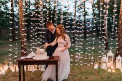 красивое разрезание свадебного торта