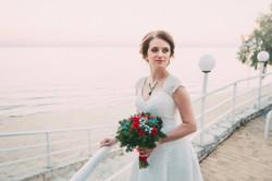 невеста Вика, свадьба на берегу моря