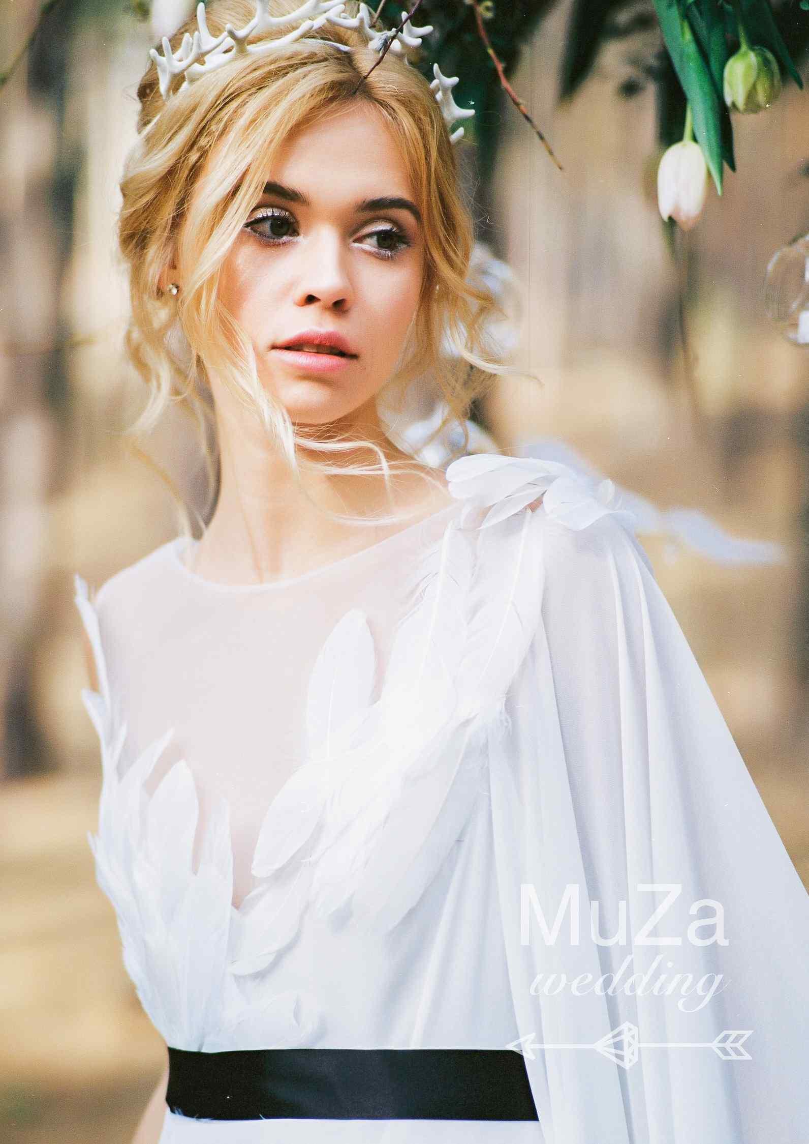 естественный нежный образ невесты