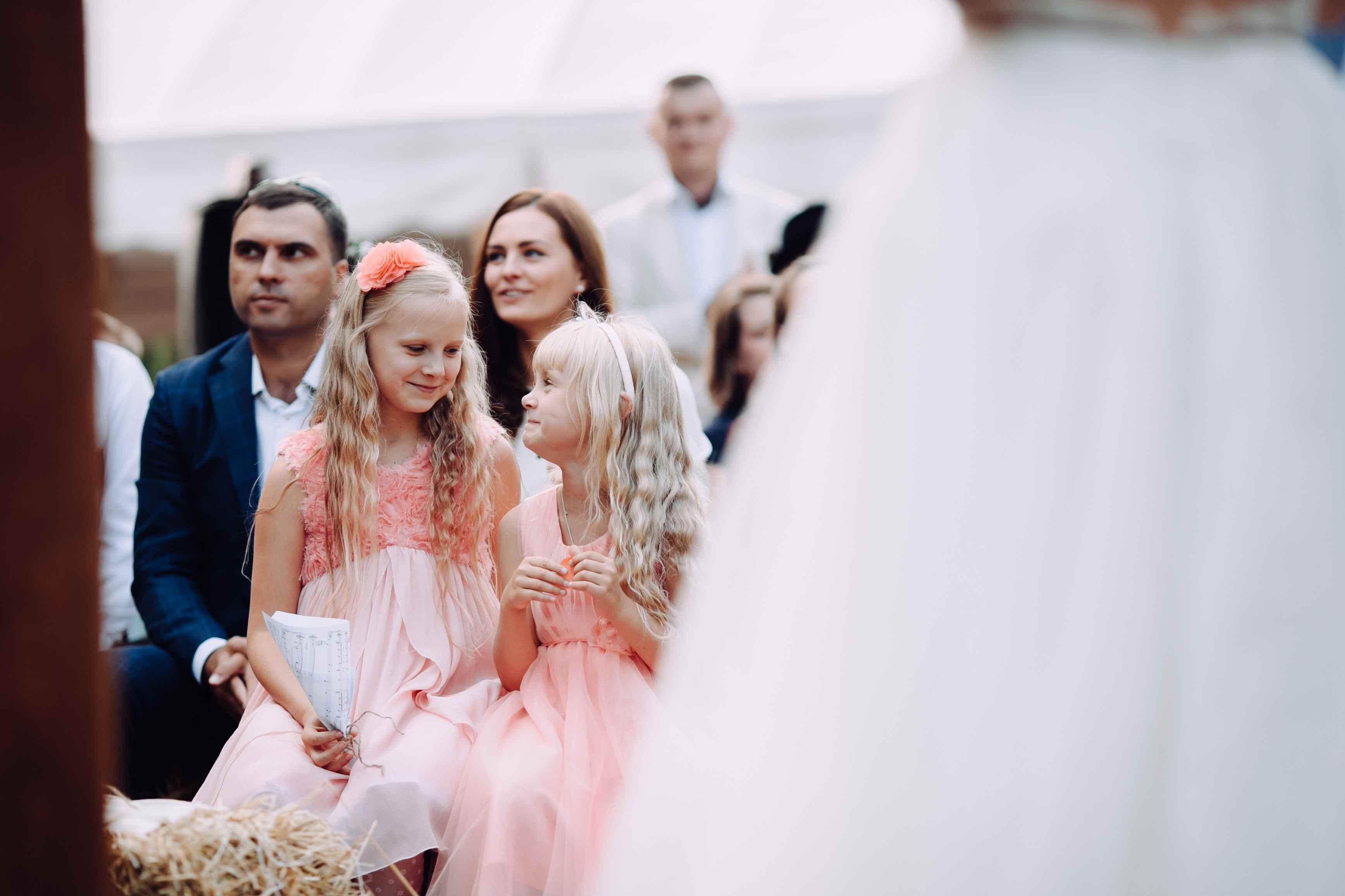 дети на свадьбе, маленькие феи