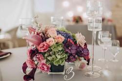 декор свадебного банкета, флористика