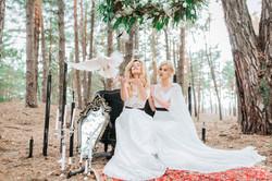 невеста отпускает голубя фото