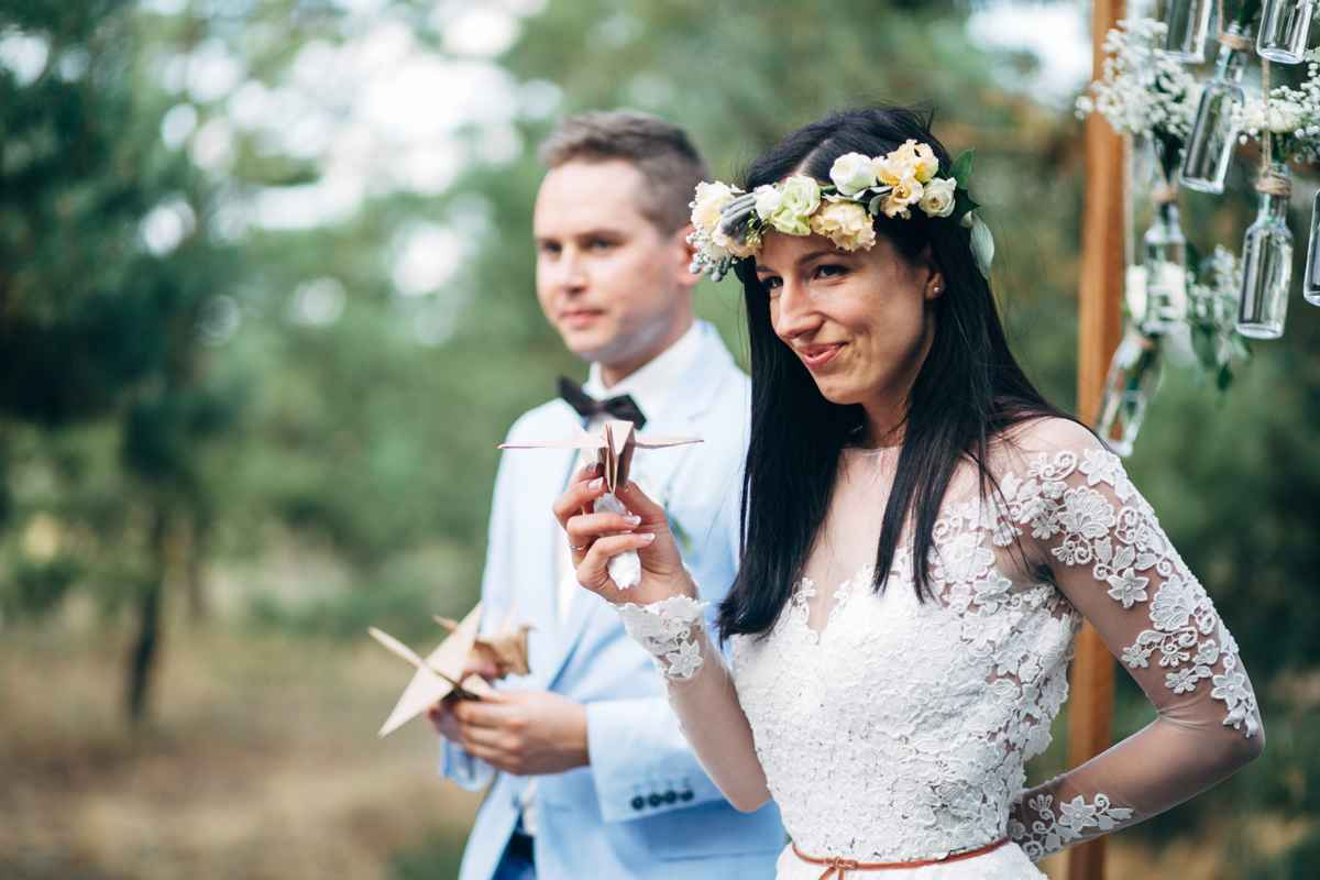 бумажные журавлики на свадьбе