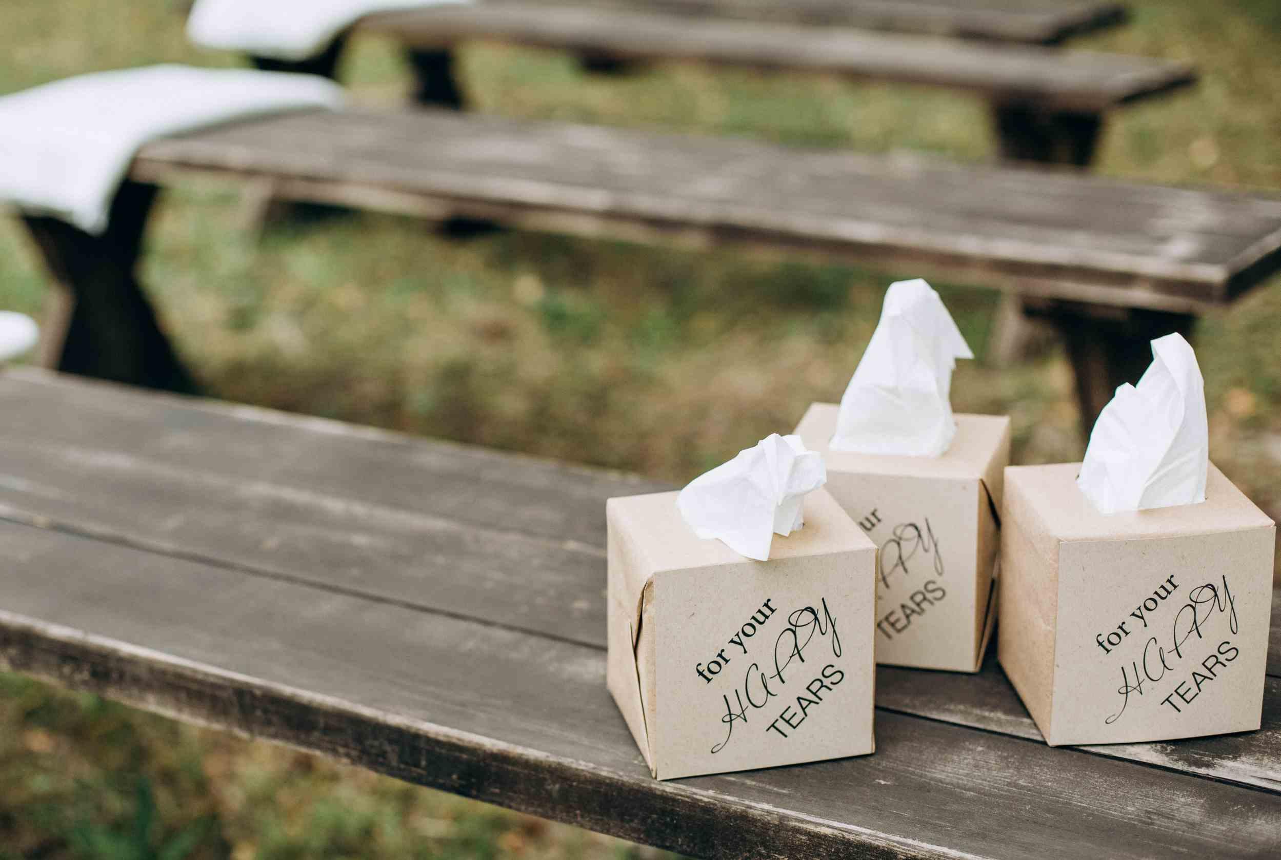 платочки для слез на церемонии, идея
