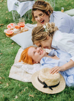 веселое утро невесты, пикник