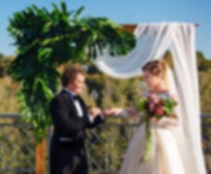"""Свадебная церемония в Гвоздове, красивая свадьба в тропическом стиле """"изысканные тропики"""", организация свадьбы - свадебное агентство MuZa-wedding"""
