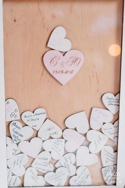 сердца для пожеланий гостей свадьба