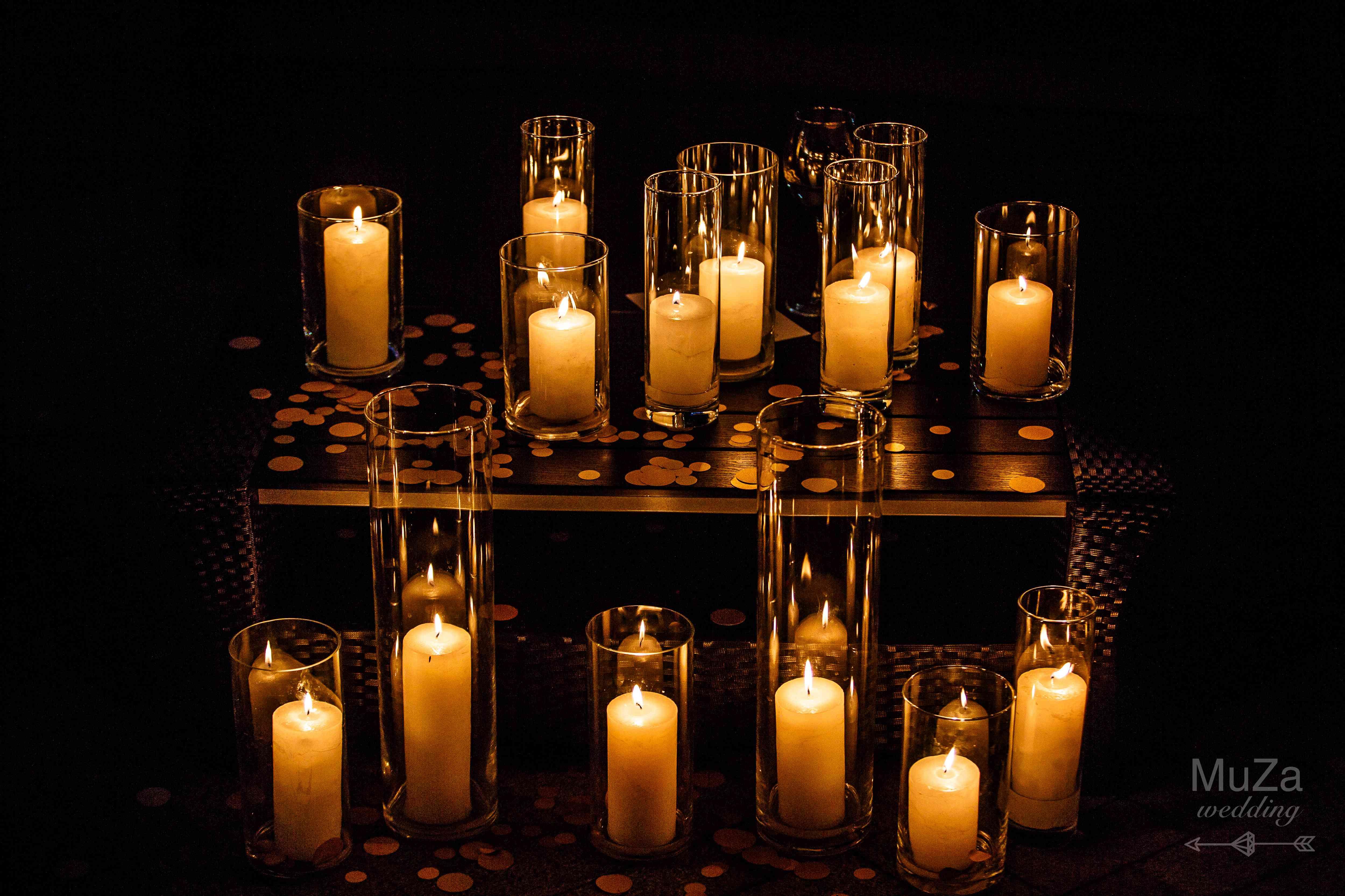 свечи, свадьба, лайунж-зона