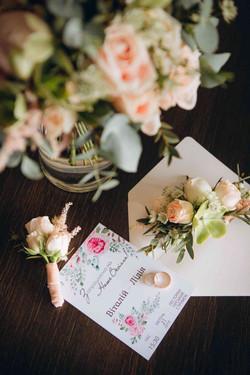 свадебный пригласительный, кольца
