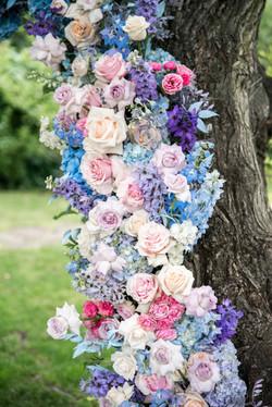 палитра свадьбы: голубой, фиолетовый