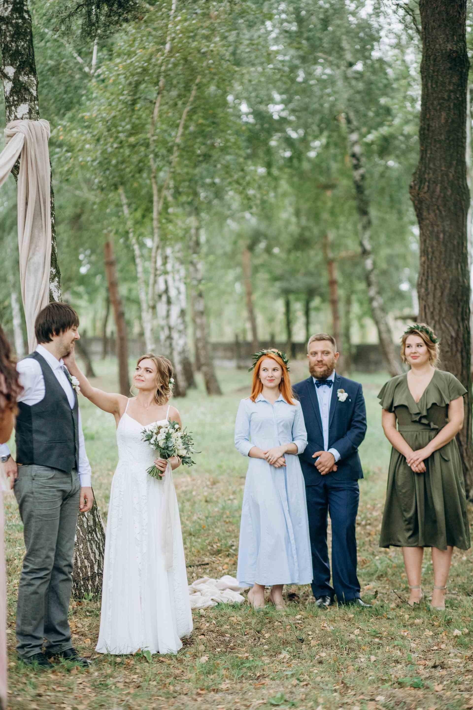 свадебная церемония в березах