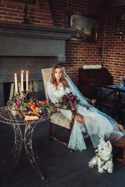 шикарный образ невесты, фотосессия