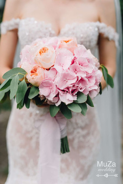 стильный букет невесты: гортензия
