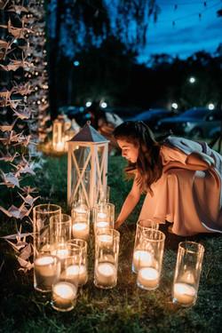 свечи, ночная свадебная церемония