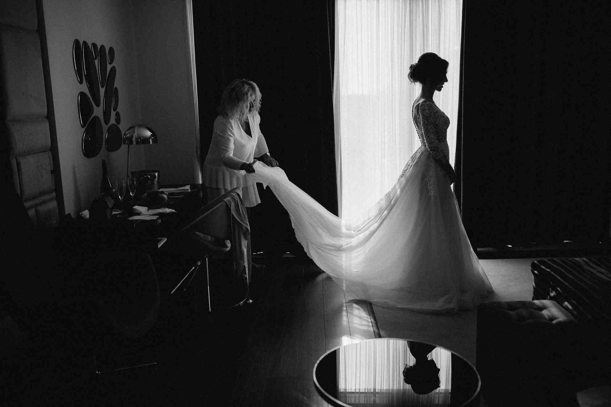 утро невесты с мамой