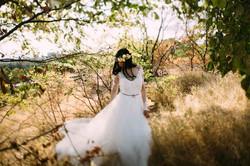 невеста, фотосессия, в лесу