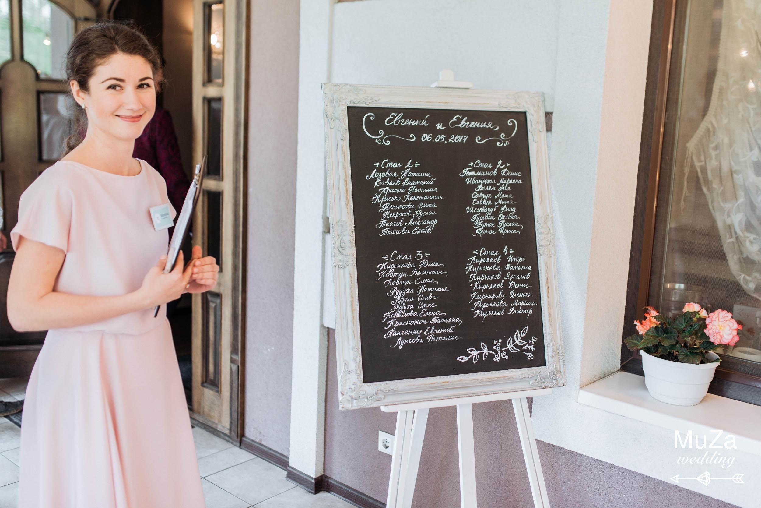 план рассадки на свадебном банкете