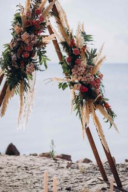 свадебная арка, бохо пампасная трава