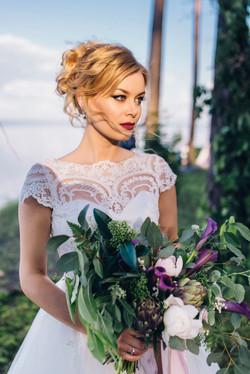очень красивая невевста, девушка