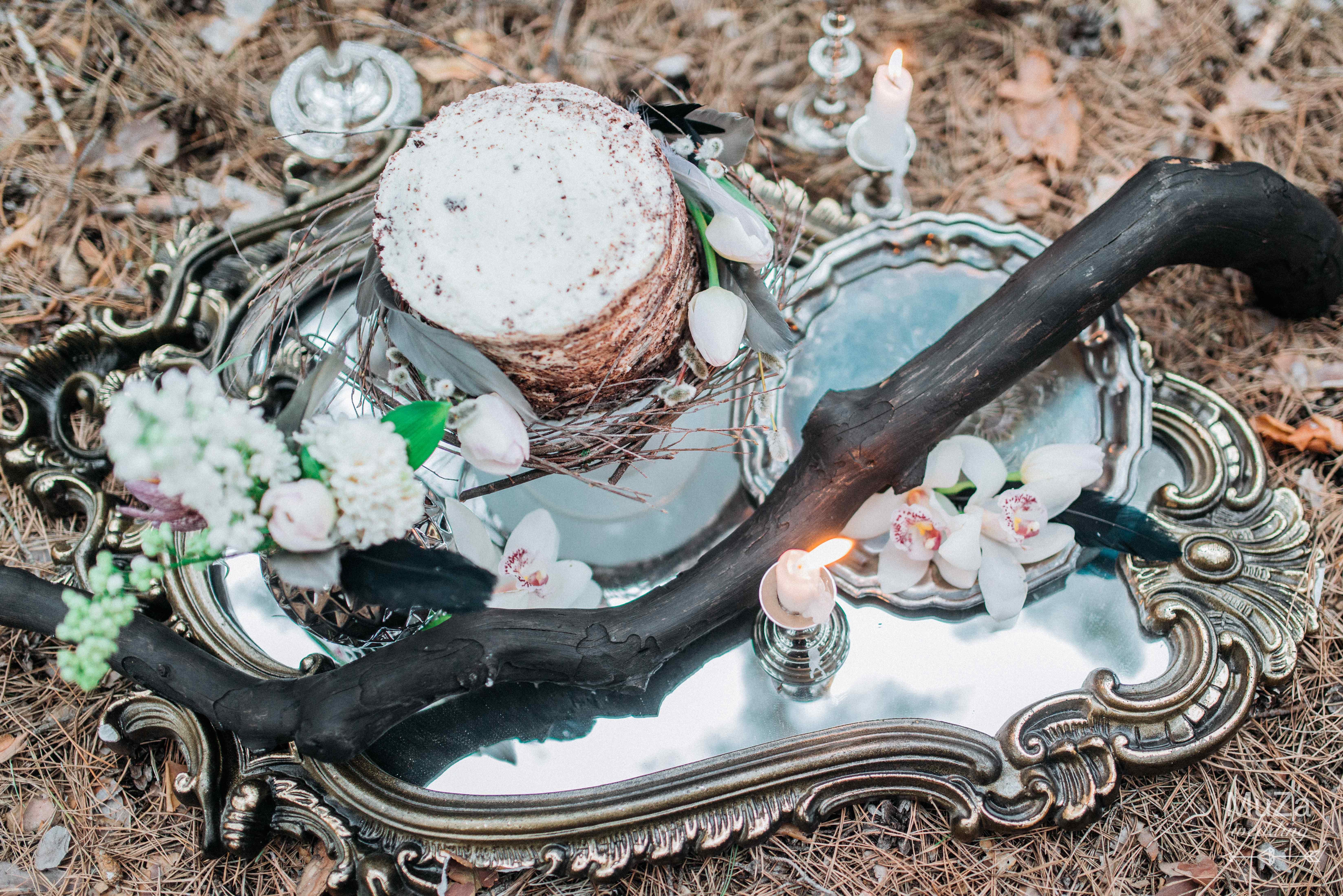 свадебные детали, свадебный торт