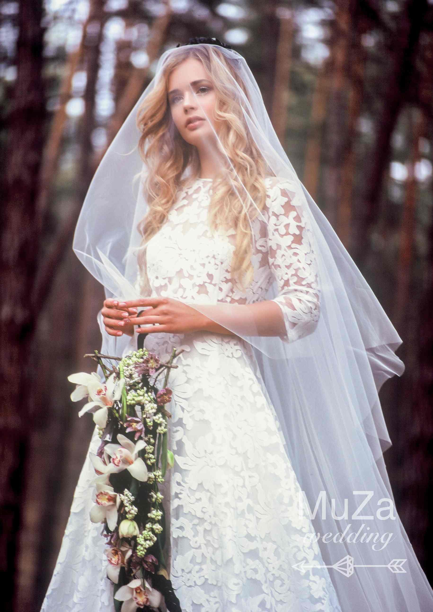 стильный каркас букет невесты капля