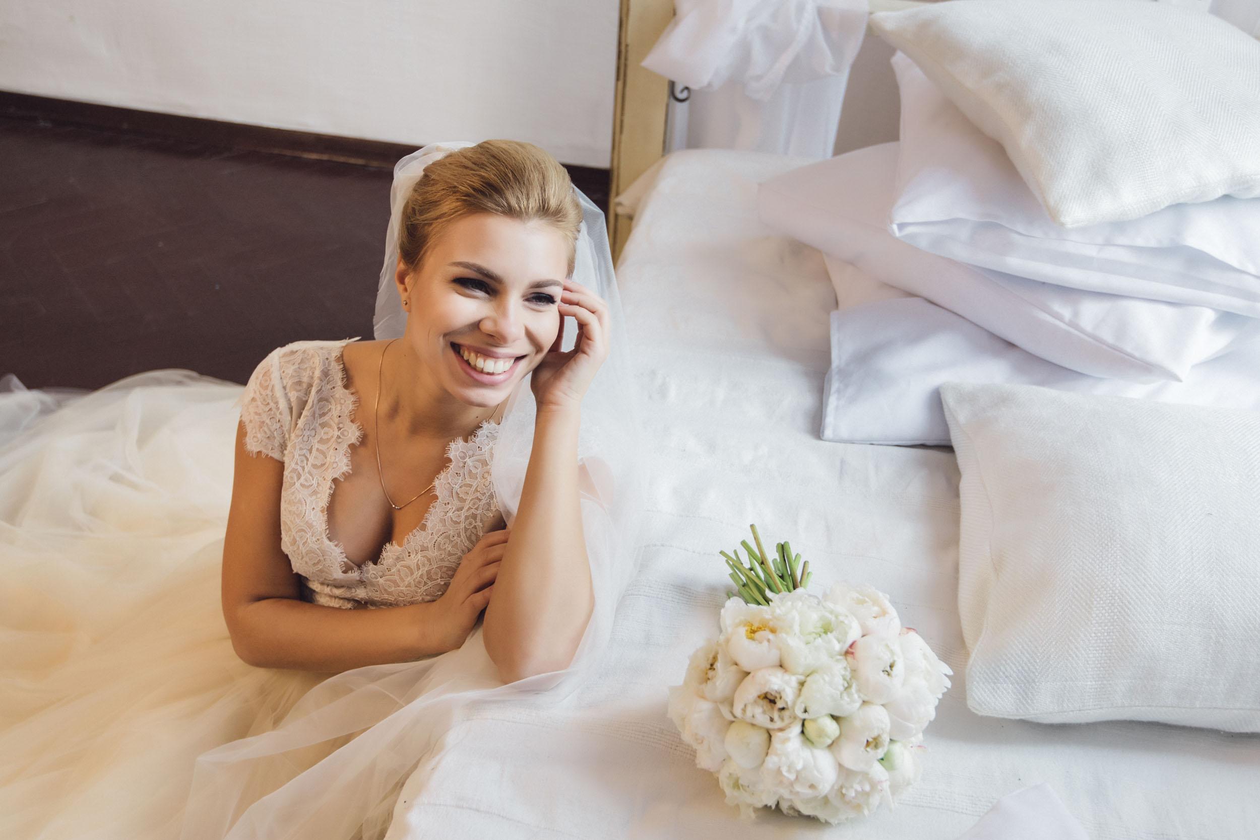 красивая невеста, утро невесты, фото