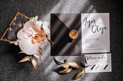 свадебный пригласительный черный