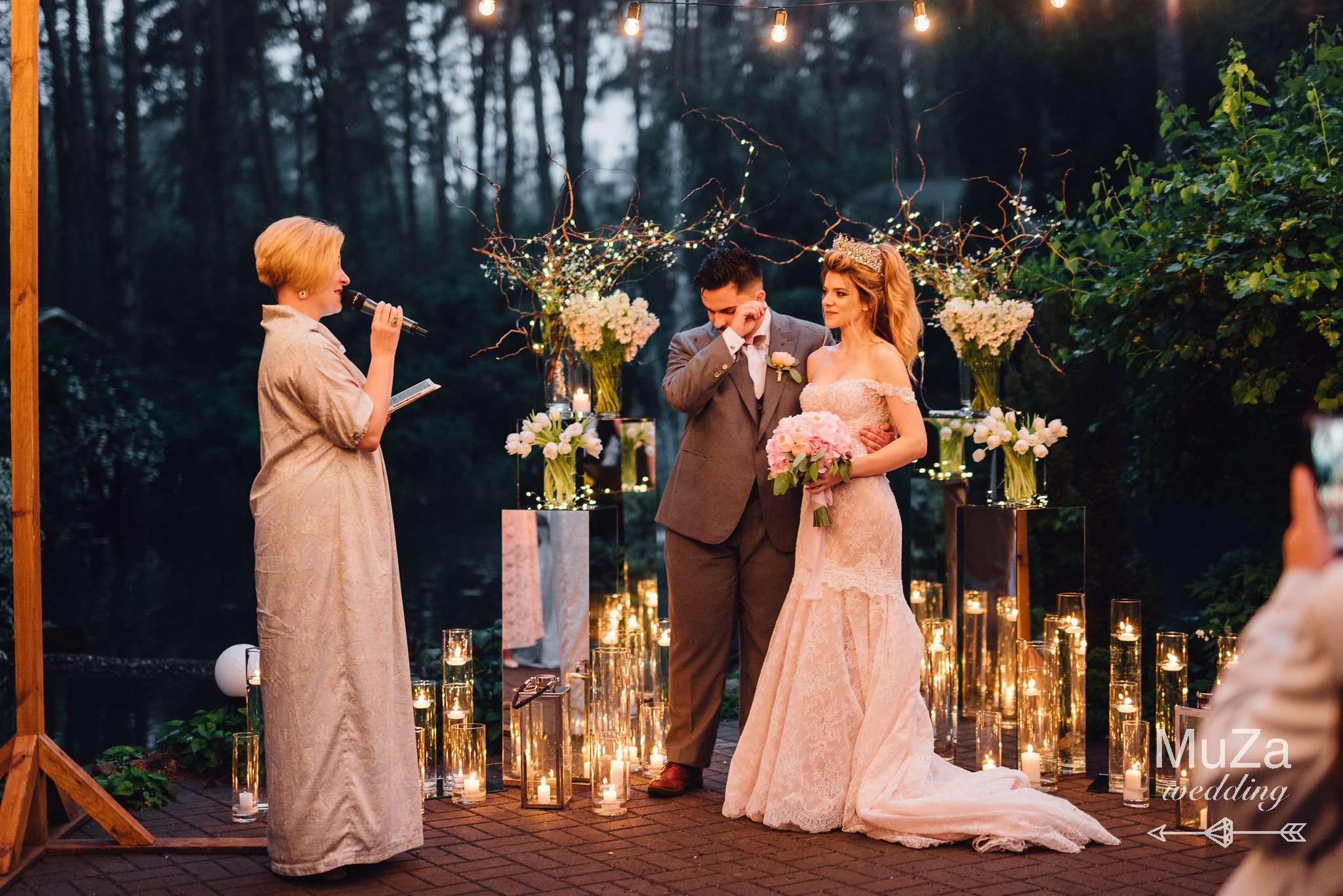 церемония, свечи, огни, гирлянды