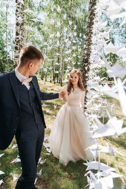 свадьба с журавликами оригами