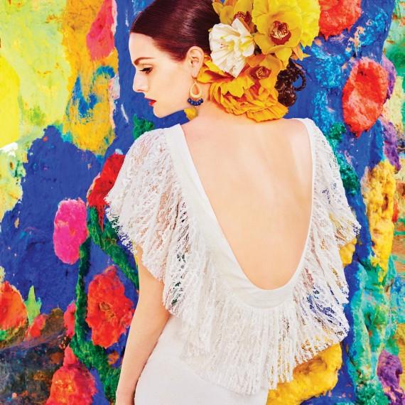 Lydia Hearst - смелый, оригинальный образ невесты для американского свадебного журнала 'Martha Stewart Weddings'