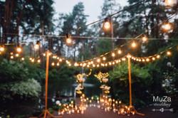 ночная свадебная церемония, декор