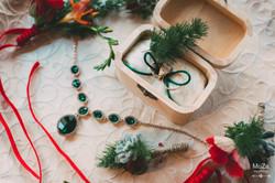 свадебные детали, изумрудный, кольца