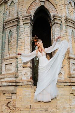Аня Гресь, невеста, свадьба, бохо