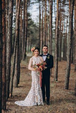 жених и невеста, фотосессия бохо