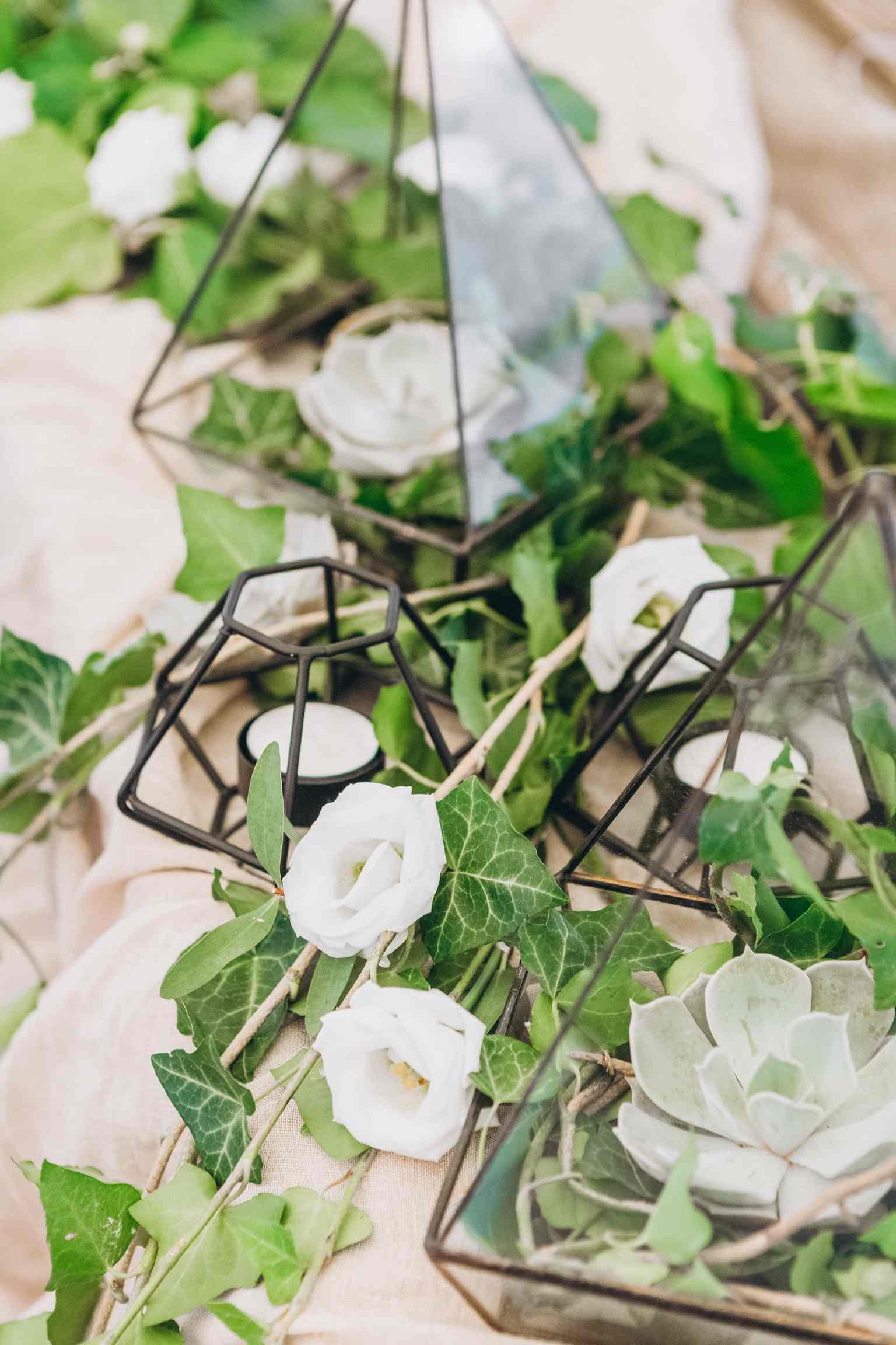 флорариумы декор на свадьбе