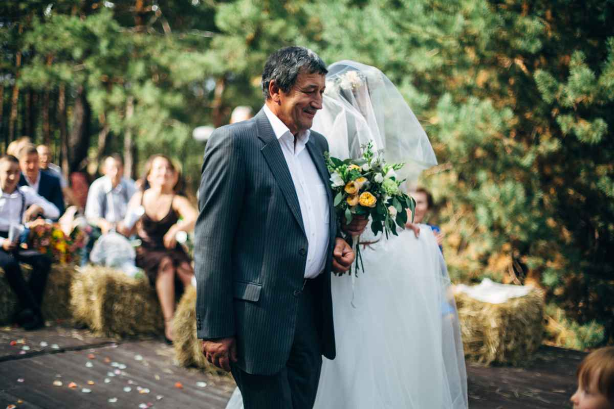 папа ведет невесту свадьба