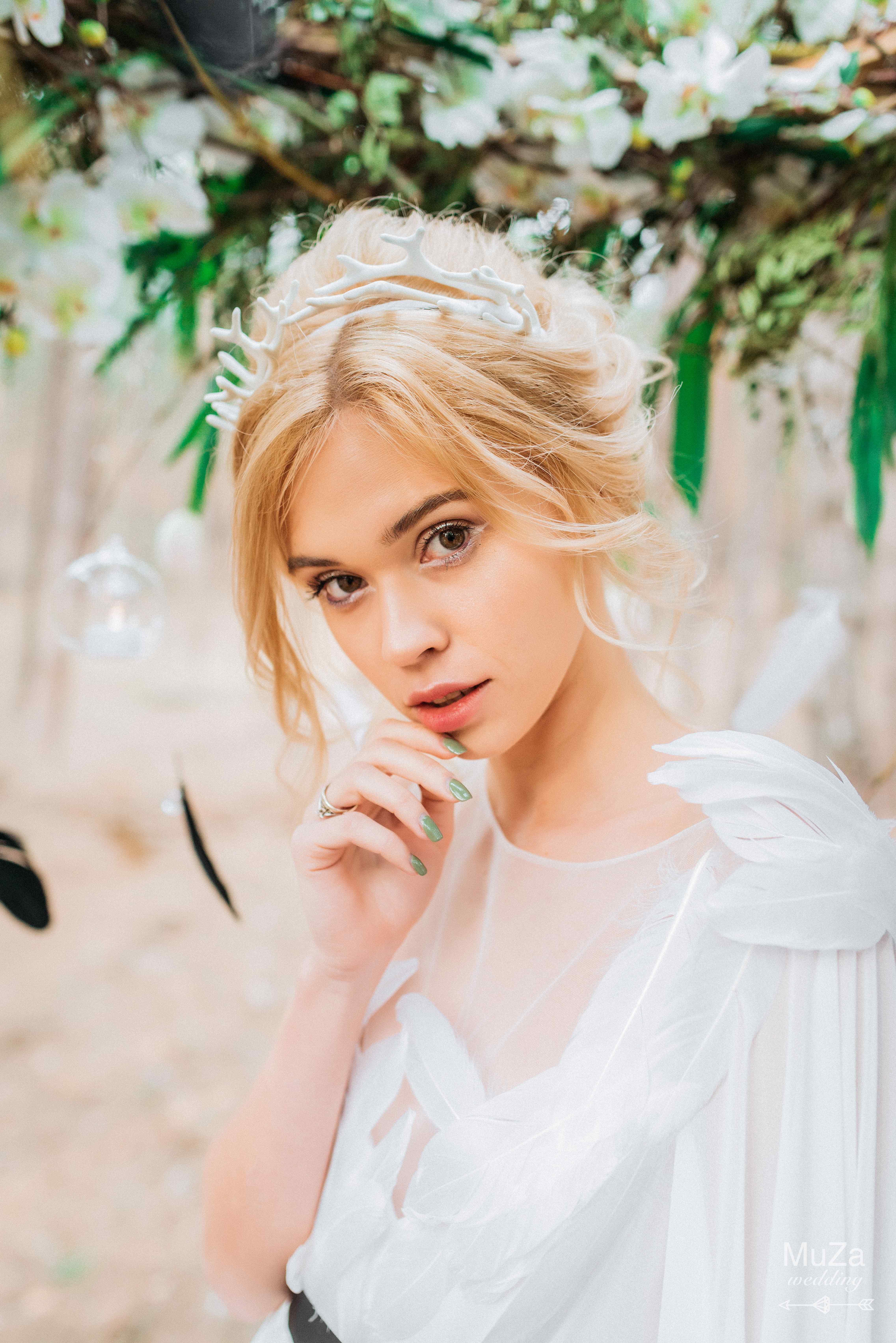 необычный нежный макияж невесты Киев