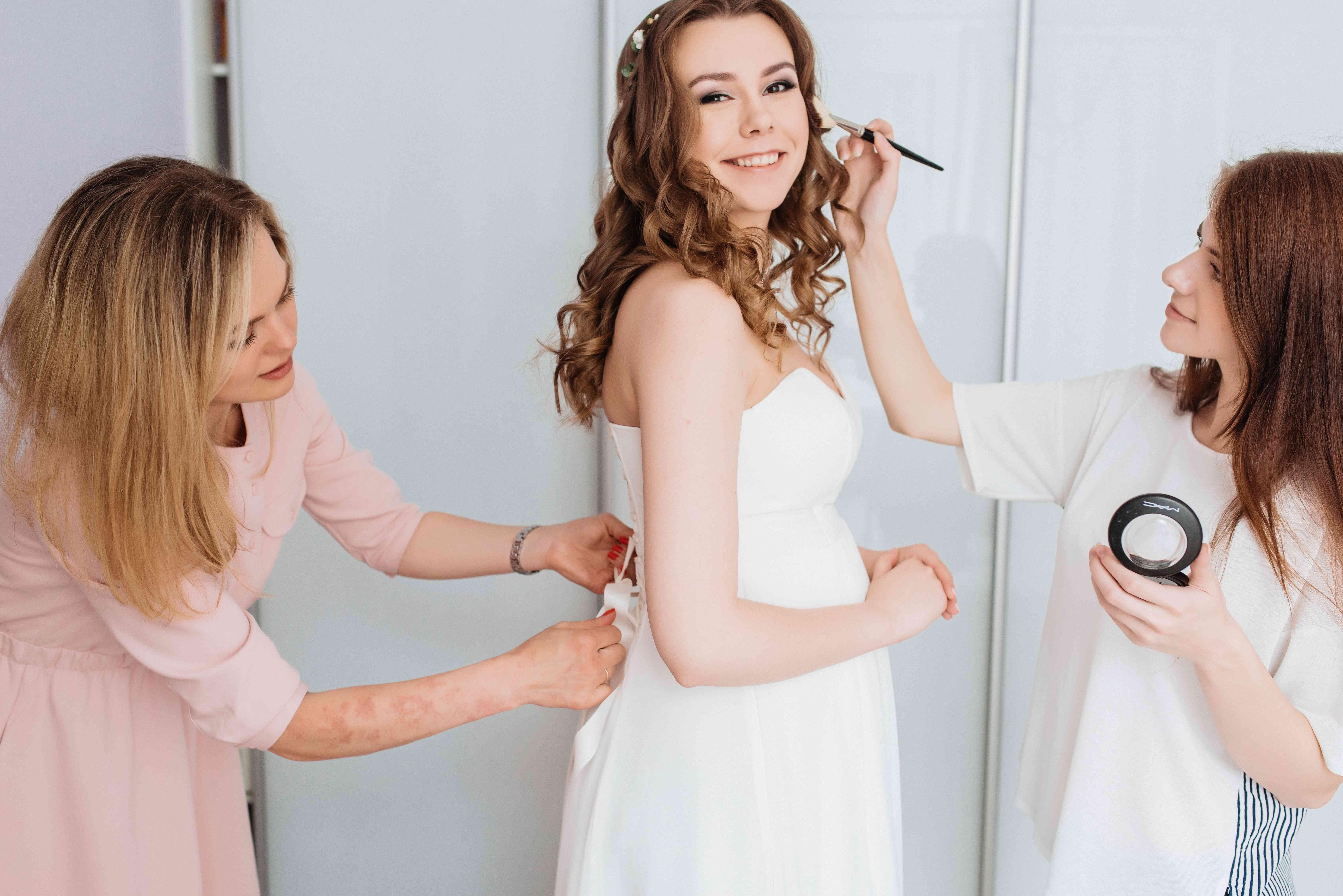 утро невесты, сборы невесты