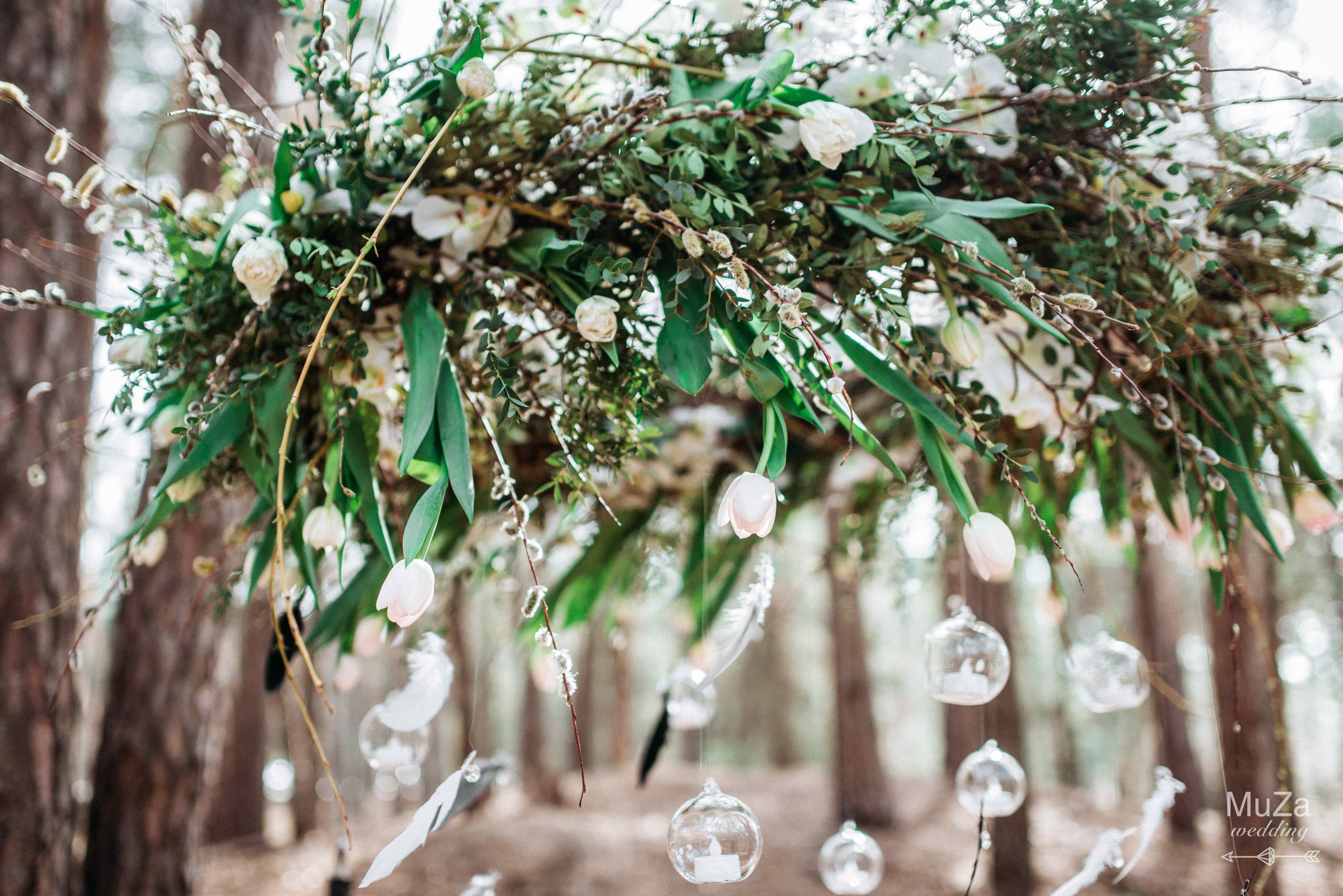 цветочная подвесная люстра декор
