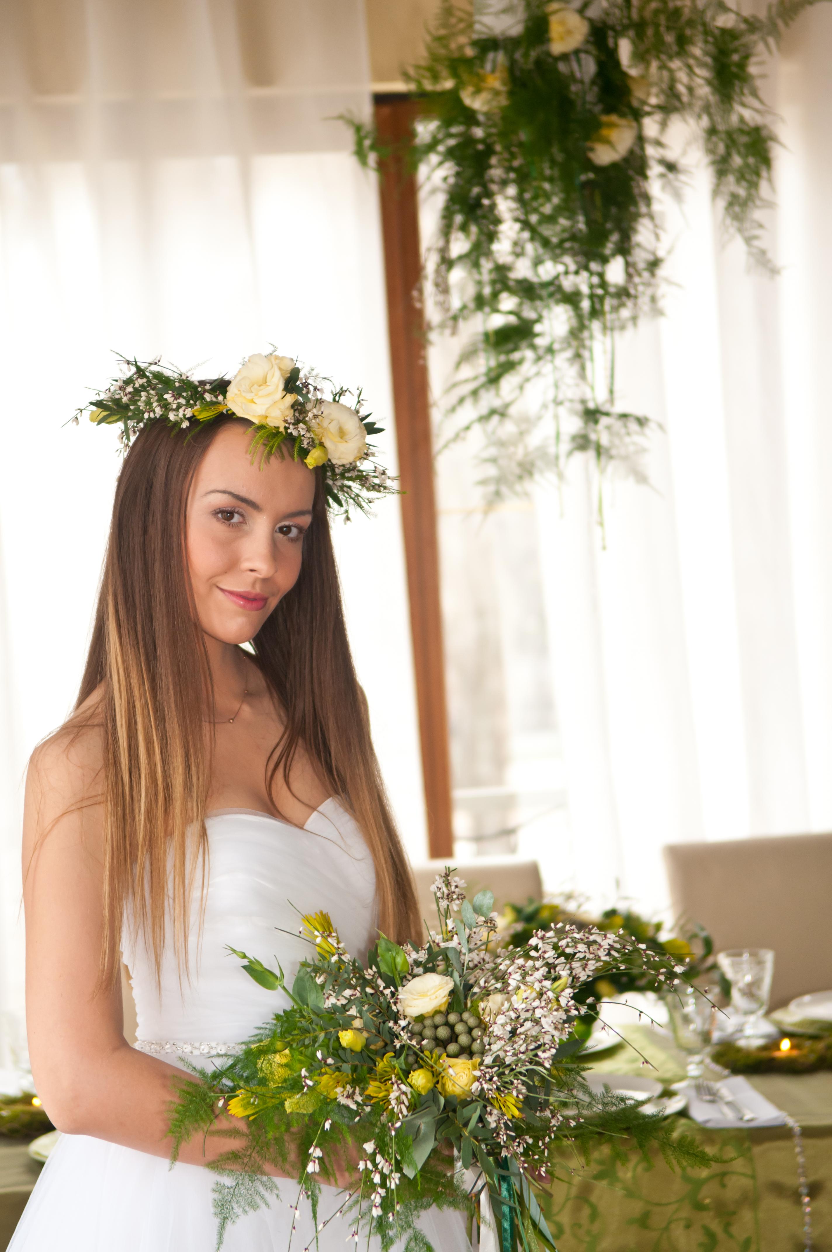 образ невесты в венке, лiсова мавка