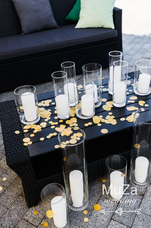 лаунж зона свадьба свечи конфетти