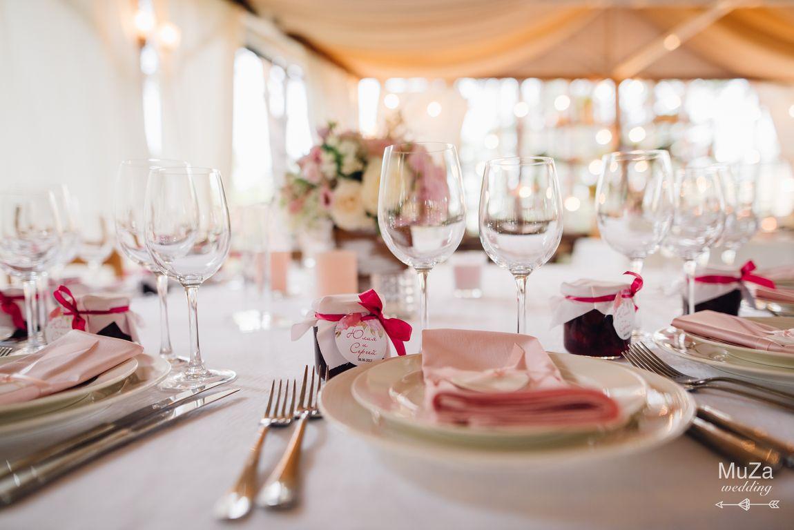 сервировка гостевых столов свадьба