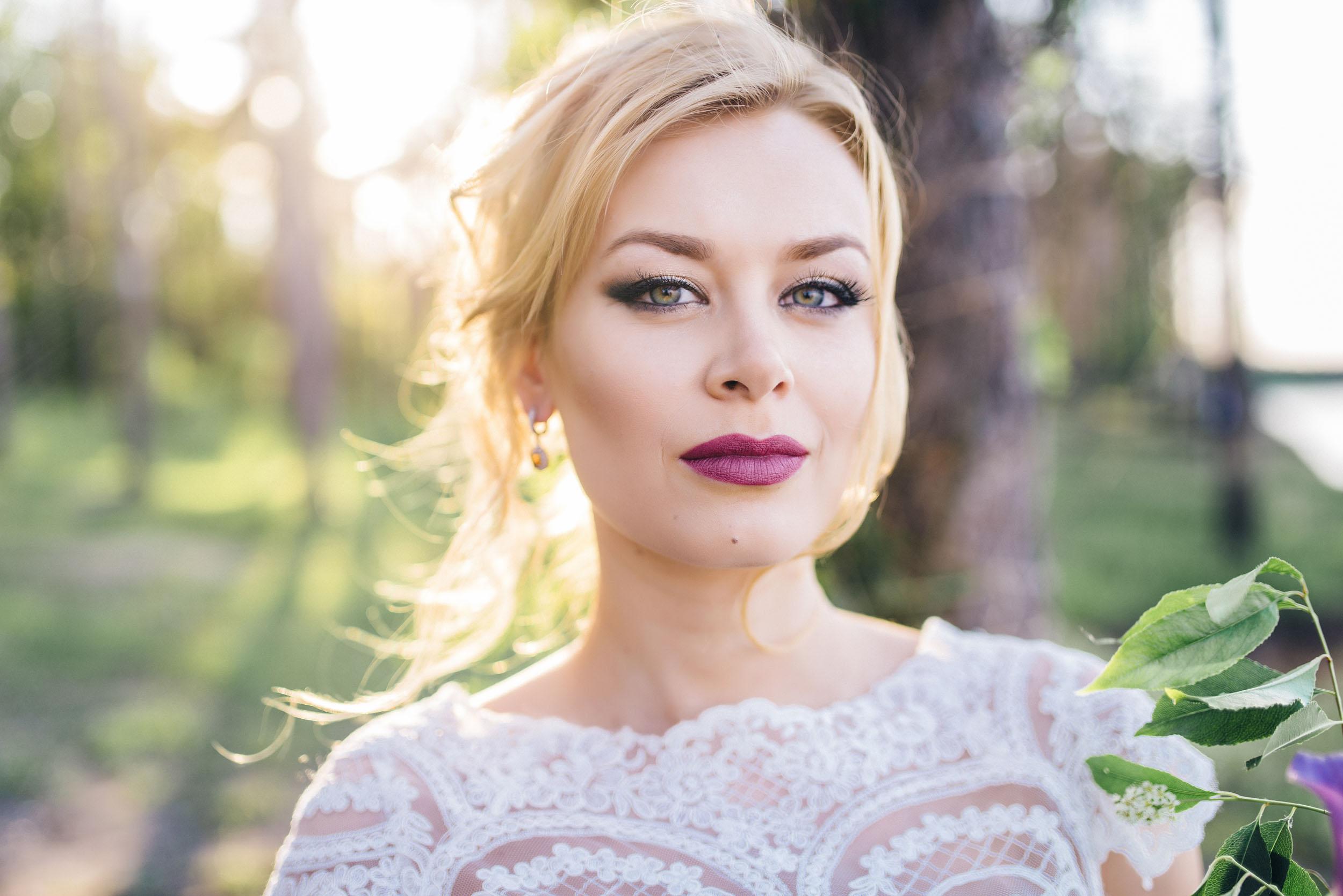 Красивый стильный образ невесты