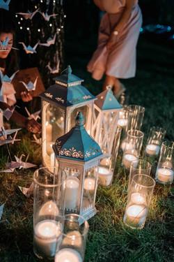 свечи и фонари для церемонии свадьба